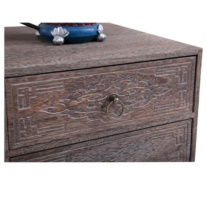 Nachttisch CARLO braun mit 2 Schubladen für Boxspringbett