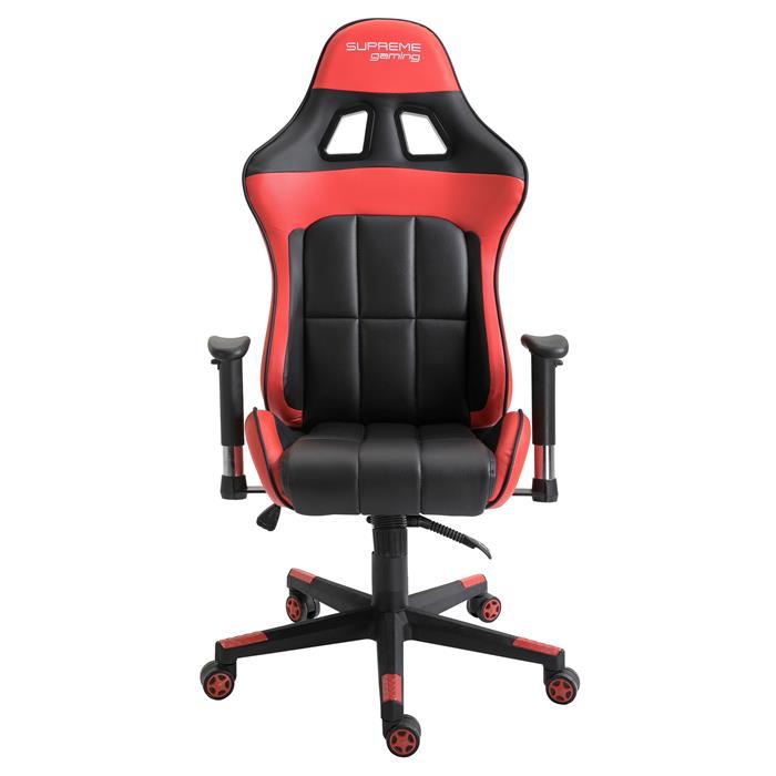 Gamingstuhl CREW in schwarz/rot