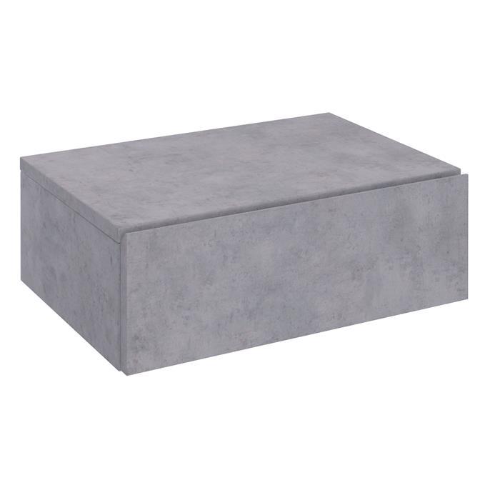 Hängende Nachtkommode ANNE mit 1 Schublade, Betonoptik
