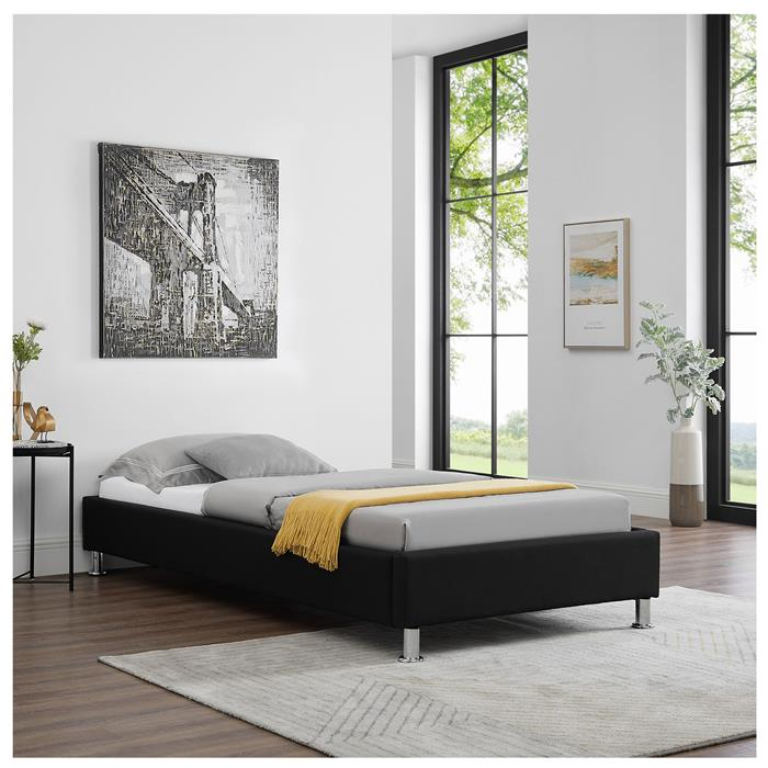 Futonbett LAREDO 90x200 cm inkl. Lattenrost in schwarz