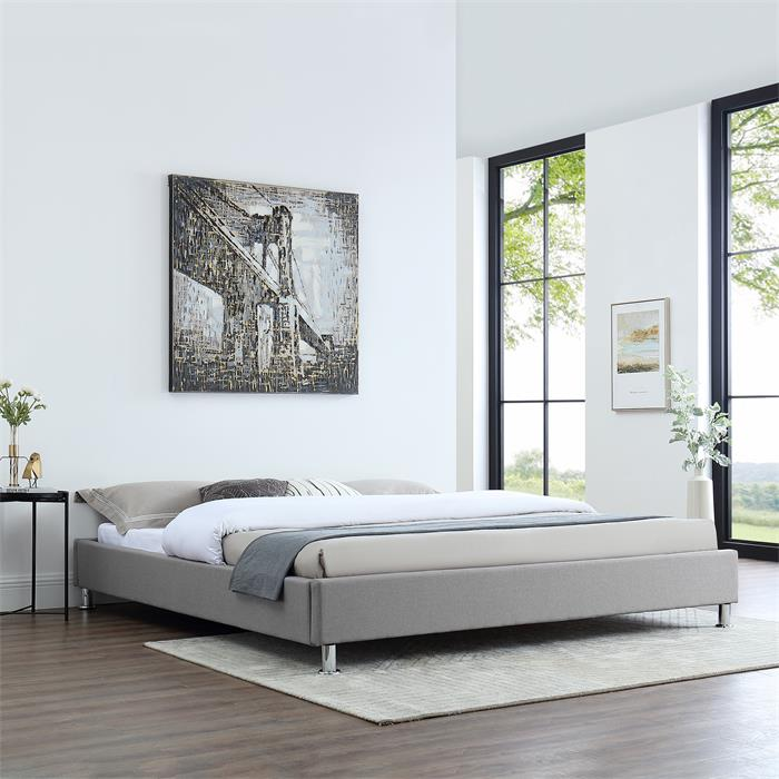 Futonbett LAREDO 180x200cm inkl. Lattenrost in grau