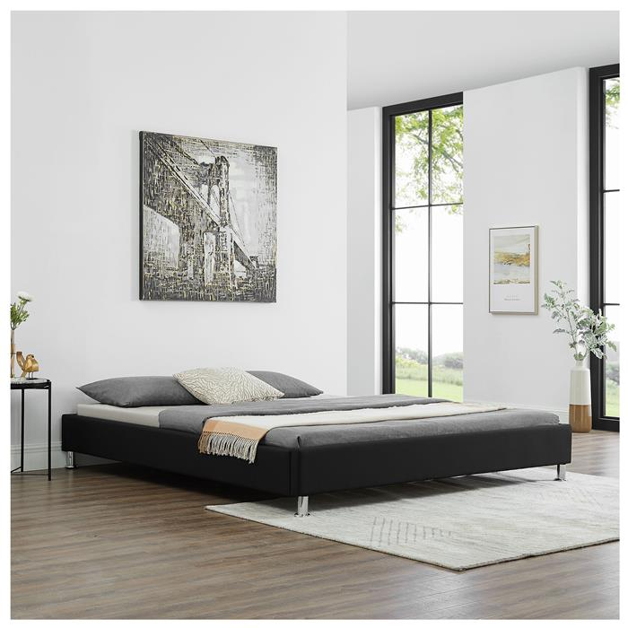 Futonbett LAREDO 180x200cm inkl. Lattenrost in schwarz