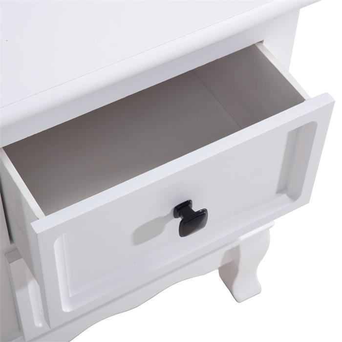 Nachtkommode ELEGANTE 2 Schubladen, in weiß