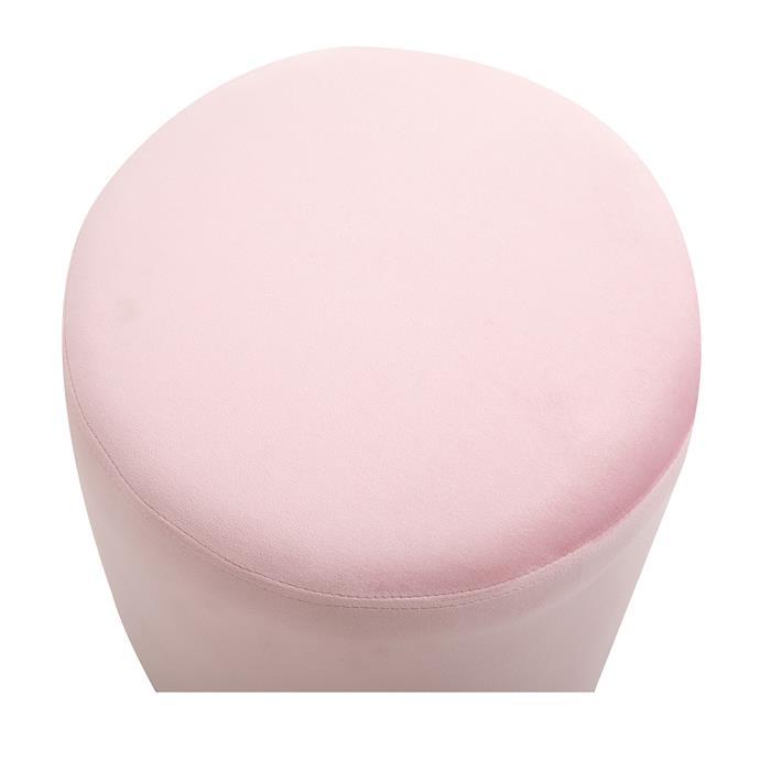 Hocker OMERO Samtbezug in rosa