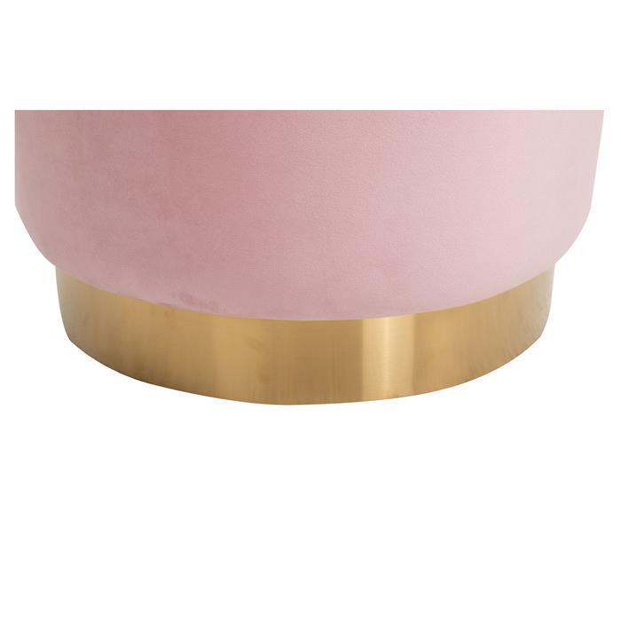 Hocker SESTO Samtbezug in rosa