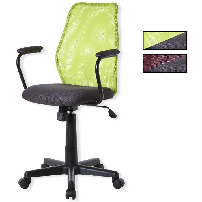 Bürodrehstuhl mit Armlehnen, in 2 Farben