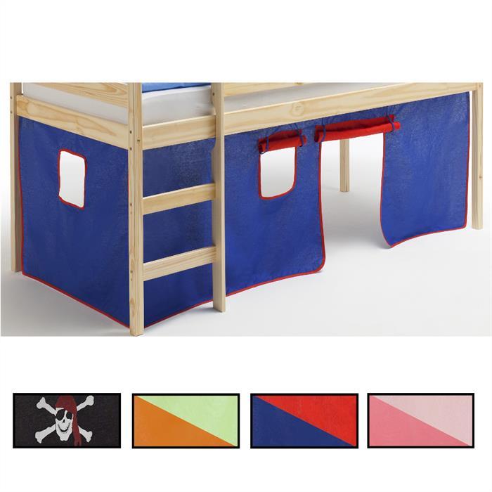Bettvorhang fürs Hochbett, versch. Farben