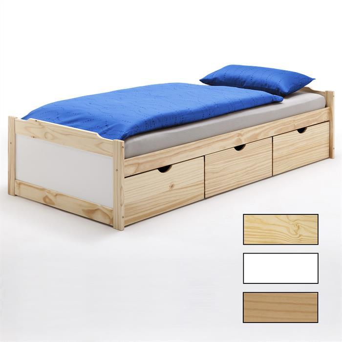 Funktionsbett 90x200 cm mit 3 Schubladen