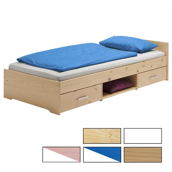 Funktionsbett 90x200 cm, verschiedene Farben