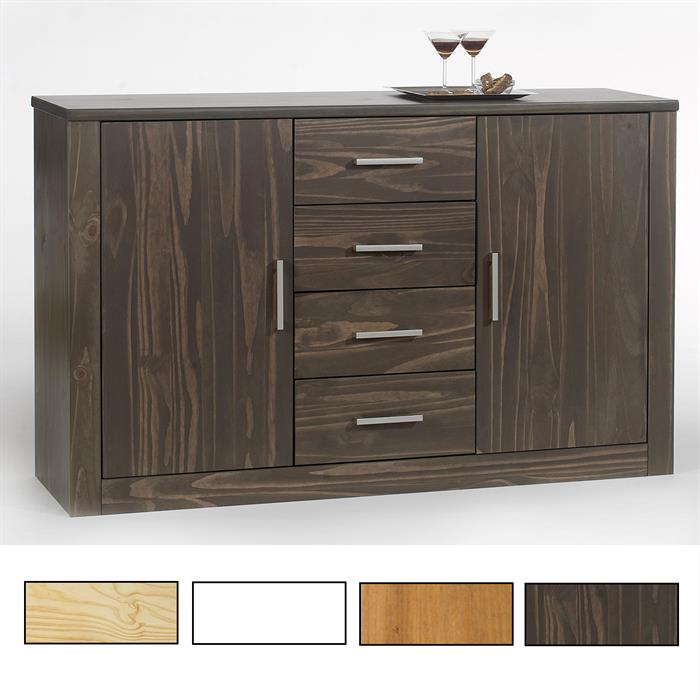 Sideboard, Kiefer massiv in versch. Farben