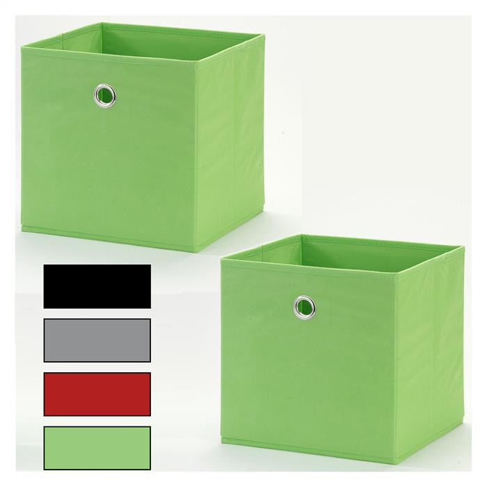 Stoffbox 2er Pack, faltbar, versch. Farben