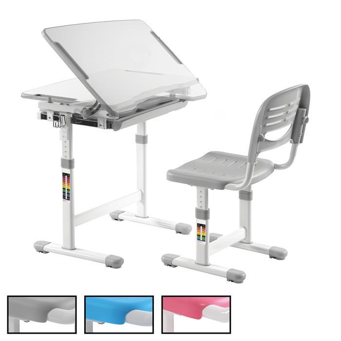 Kinderschreibtisch Set höhenverstellbar inklusive Stuhl