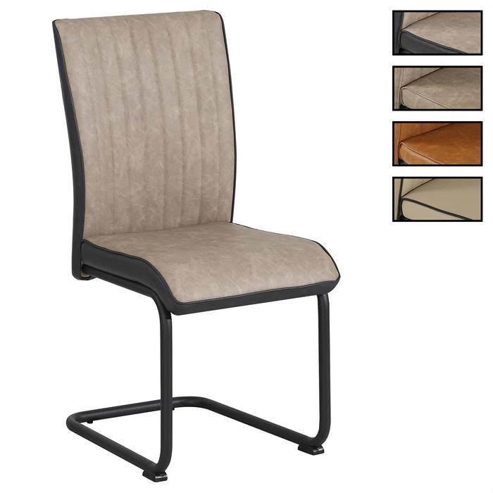 4er Set Esszimmerstühle CRUZ aus Kunstleder in 3 Farben