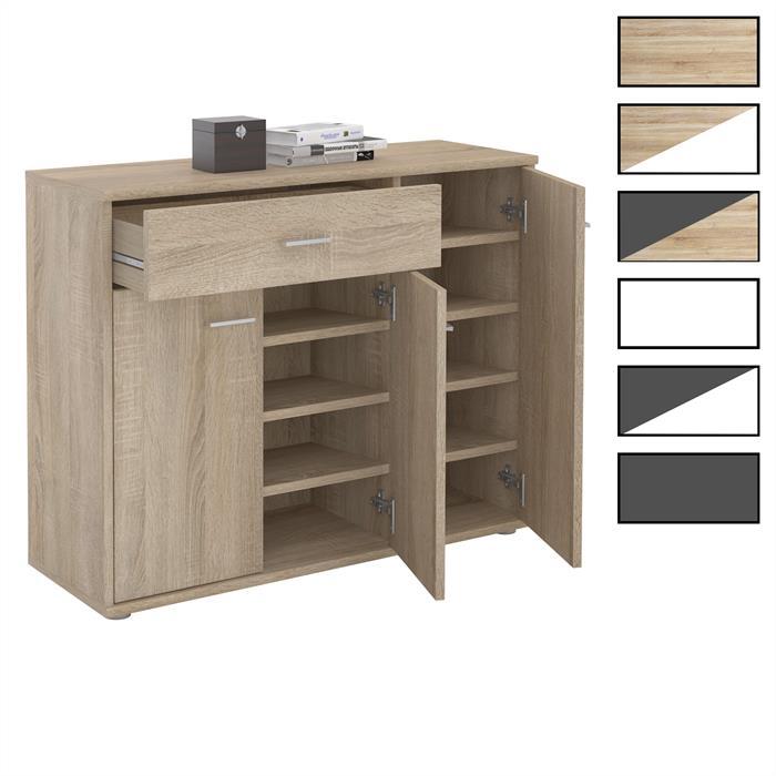 Schuhschrank DEUSTO 1 Schublade, 3 Türen
