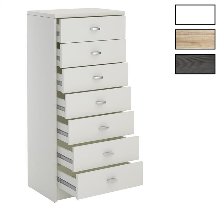 Schubladenkommode FEHMARN mit 7 Schubladen in 2 Farben