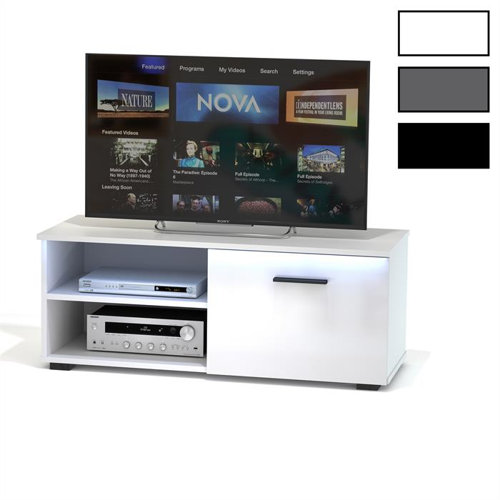 tv lowboard malibu mit led beleuchtung in 3 farben caro m bel. Black Bedroom Furniture Sets. Home Design Ideas