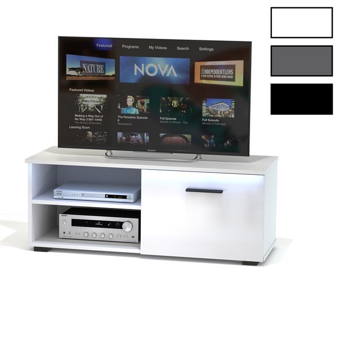 TV-Lowboard MALIBU mit LED Beleuchtung in 3 Farben