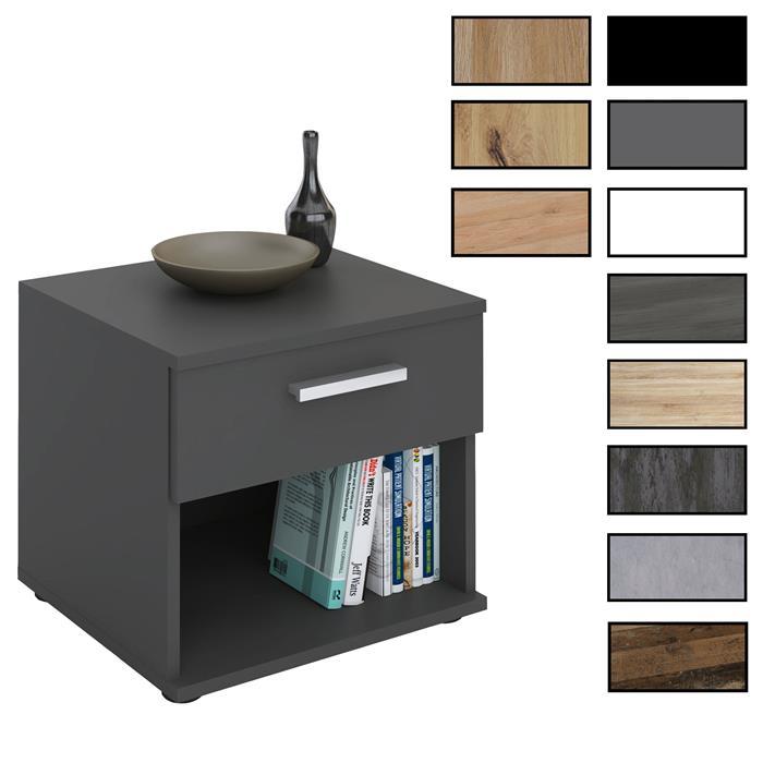 Nachttisch MARY verschiedene Farben mit Schublade