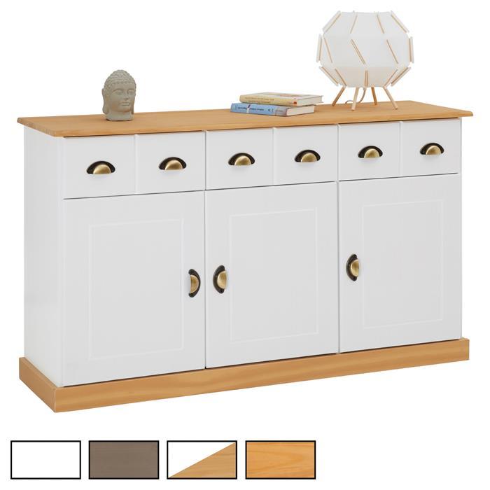 Anrichte 3 Schubladen 3 Türen in 2 Farben