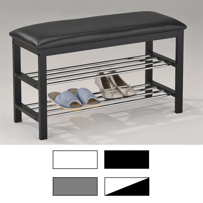 Sitzbank in 6 Farben mit 2 Schuhablagen