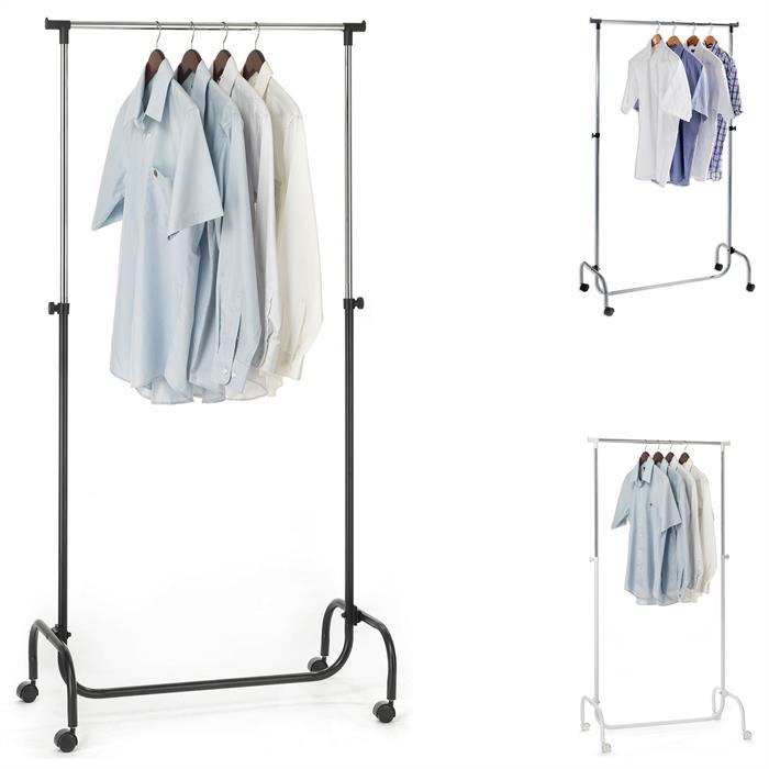 Kleiderständer auf Rollen, höhenverstellbar