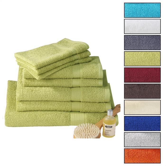 Handtuch PACO in apfelgrün 50 x 100 cm