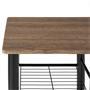 Bartisch mit 2 Stühlen und Ablagefächern in Wildeiche