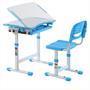Kinderschreibtisch Set höhenverstellbar inklusive Stuhl, blau