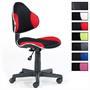 Bürodrehstuhl schwarz/rot