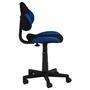 Bürodrehstuhl schwarz/blau