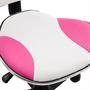 Kinderdrehstuhl mit Netzbezug, in pink