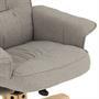 Relaxsessel mit Hocker mit Stoffbezug in grau