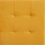 Würfelhocker aus Samt Stoff in gelb