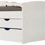 Funktionsbett in weiß, 90 x 200 cm