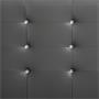 Polsterbett NEWCASTLE 120 x 200 cm, inkl. Lattenrost in grau