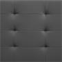Polsterbett BRIGHTON 120 x 200 cm in grau