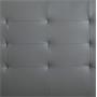 Polsterbett LIVERPOOL 90x200 cm, inkl. Lattenrost in grau