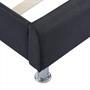 Polsterbett CANNES 90 x 200 cm, in schwarz