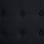 Polsterbett CANNES 140 x 200 cm, in schwarz