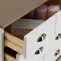 Apothekerkommode  mit 11 Schubladen, weiß/taupe