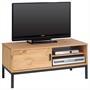 TV Lowboard mit 1 Schiebetür, gebeizt/gewachst