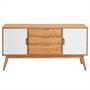 Sideboard gebeizt/weiß 2 Türen, 3 Schubladen