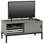 TV Lowboard mit 1 Schiebetür grau lackiert