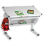 Kinderschreibtisch PHILIPP höhenverstellbar in weiß mit Schublade