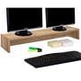 Monitorständer ZOOM 100 x 15 x 27 cm in Wildeiche