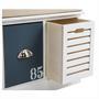 Sitzbank TRIENT weiß mit Sitzkissen, 3 Schubladen