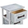 Nachttisch SALERNO grau weiß 2 Schubladen
