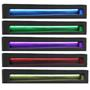 Polsterbett SATOKA mit LED 120x200 cm schwarz inkl. Lattenrost