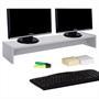 Monitorständer ZOOM 100 x 15 x 27 cm in hellgrau