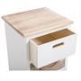Schubladenregal SALVA in weiß mit 3 Schubladen
